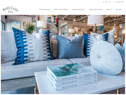 Sceenshot of website design for Mary Cates and Co.